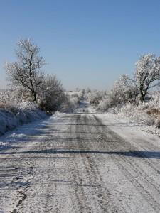 Cesta na lazy v zime