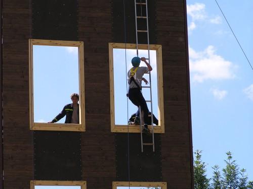 Výstup na cvičnú vežu